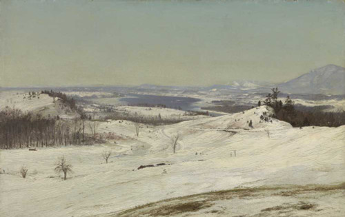 Art prints of View from Olana in the Snow, 1871 by Frederic Edwin Church