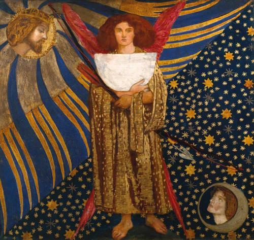 Art prints of Dantis Love, 1860 by Dante Gabriel Rossetti