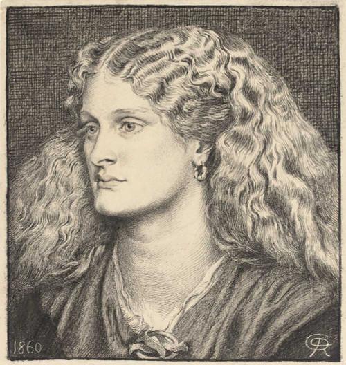 Art prints of Portrait of Annie Miller by Dante Gabriel Rossetti