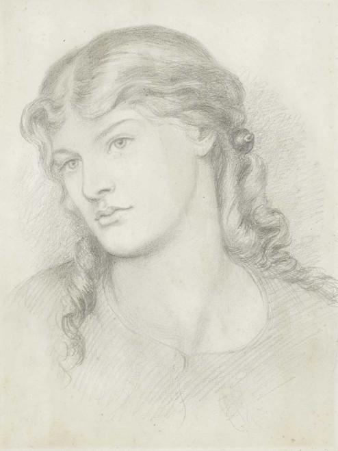 Art prints of Portrait of Alexa Wilding by Dante Gabriel Rossetti