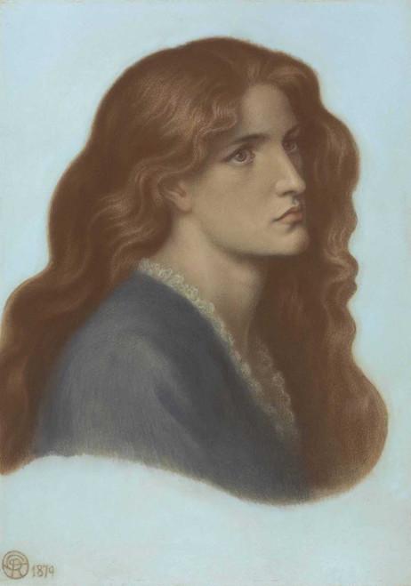 Art prints of Portrait of Edith Williams by Dante Gabriel Rossetti