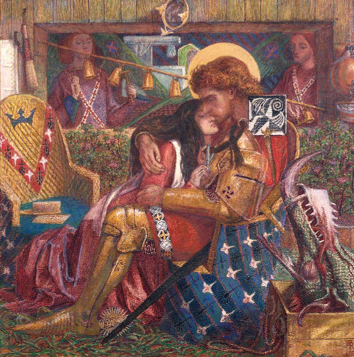 Art prints of The Wedding of St. George and Princess Sabra by Dante Gabriel Rossetti
