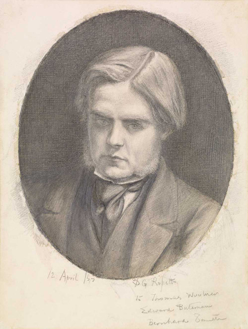 Art prints of Portrait of William Holman Hunt by Dante Gabriel Rossetti
