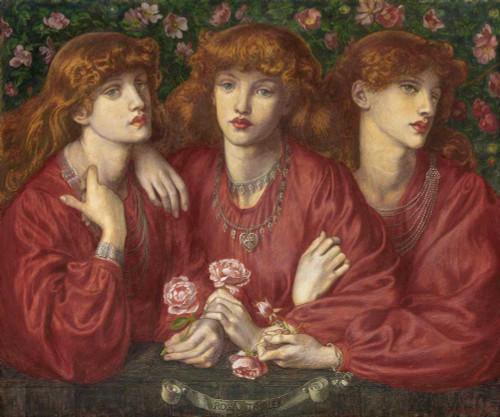 Art prints of Rosa Triplex a Triple Portrait of May Morris by Dante Gabriel Rossetti
