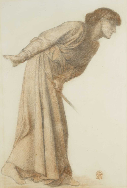Art prints of Study for the Figure of Love by Dante Gabriel Rossetti