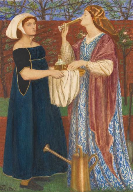 Art prints of The Bower Garden by Dante Gabriel Rossetti