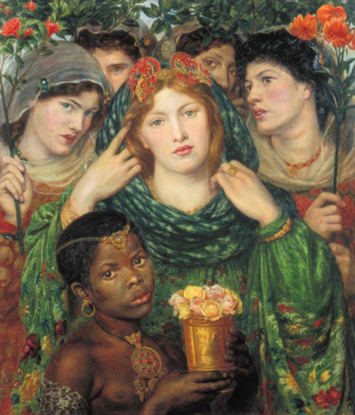 Art prints of The Bride by Dante Gabriel Rossetti