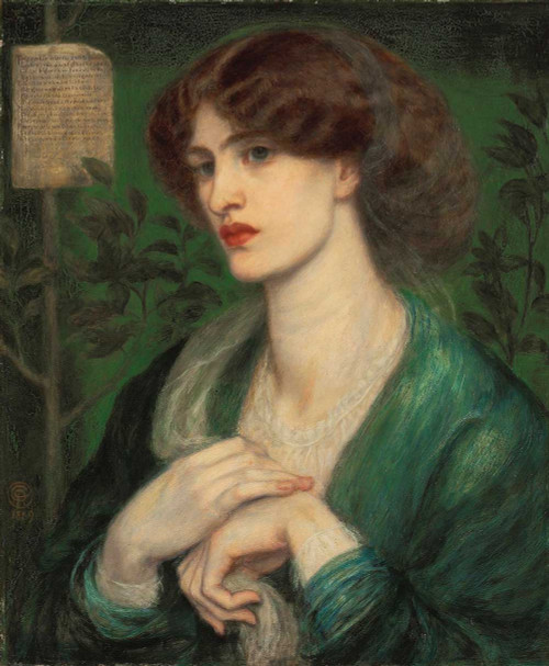 Art prints of The Salutation of Beatrice, 1869 by Dante Gabriel Rossetti