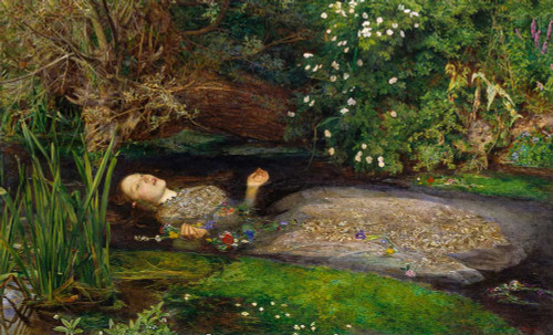 Art prints of Ophelia by John Everett Millais