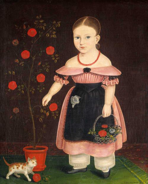 Art prints of Little Girl in Lavender by John Bradley