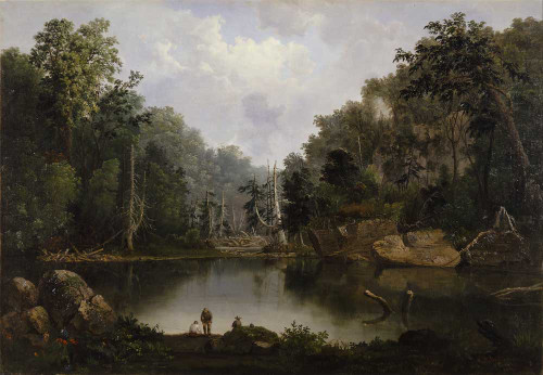 Art prints of Blue Hole, Flood Waters, Little Miami River by Robert S. Duncanson