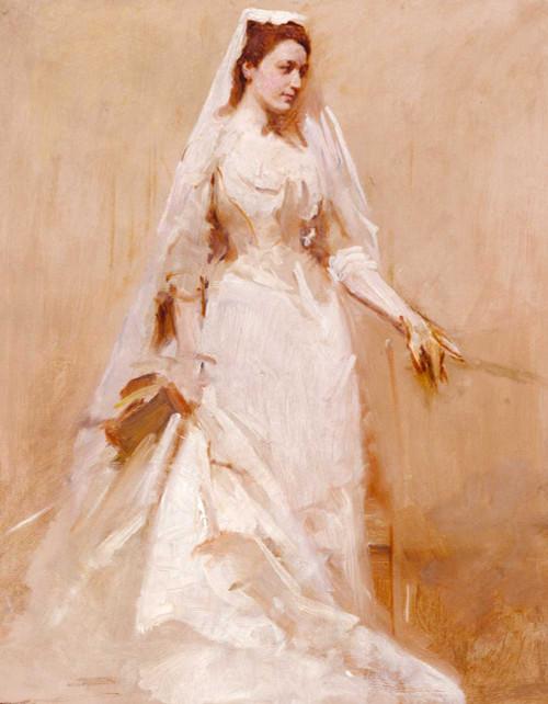Art prints of A Bride by Abbott H. Thayer