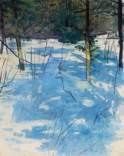 Art prints of Winter, Monadnock by Abbott H. Thayer