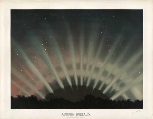 Art prints of Aurora Borealis, 1872 by Étienne Léopold Trouvelot
