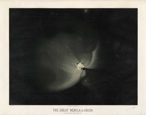 Art prints of The Great Nebula in Orion, 1875 by Étienne Léopold Trouvelot