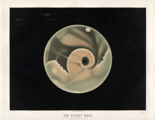 Art prints of The Planet Mars, 1877 by Étienne Léopold Trouvelot