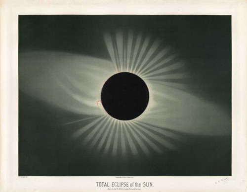 Art prints of Total Eclipse of the Sun by Étienne Léopold Trouvelot