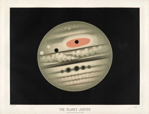 Art prints of The Planet Jupiter by Étienne Léopold Trouvelot