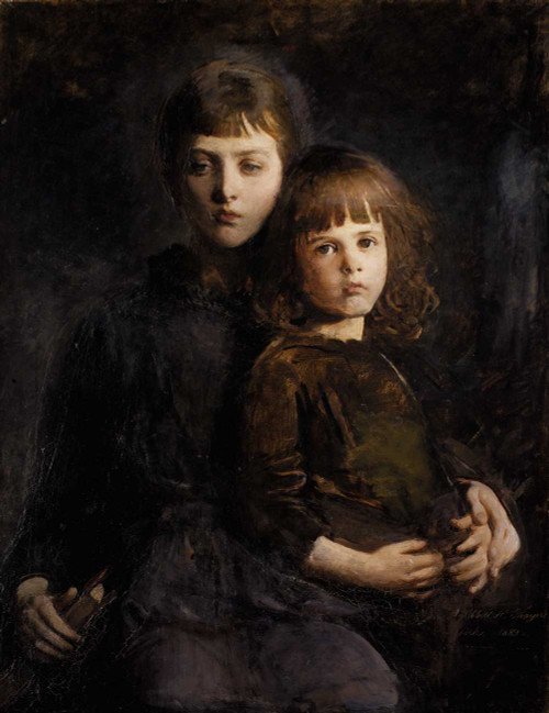 Art prints of Brother and Sister (Mary and Gerald Thayer) by Abbott H. Thayer