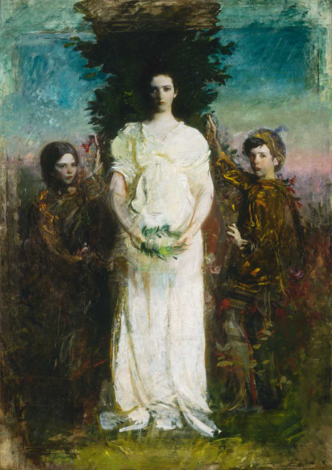 Giclee prints of My Children, Mary, Gerald, and Gladys Thayer by Abbott H. Thayer