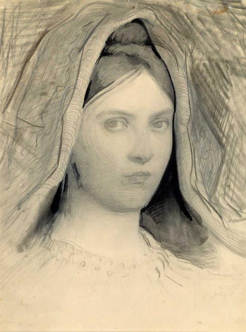 Art prints of Head of Mary B. Thayer by Abbott H. Thayer