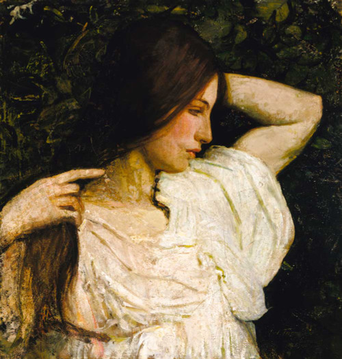 Giclee prints of Girl Arranging Her Hair by Abbott H. Thayer