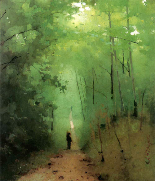 Giclee prints of Landscape at Fontainebleau Forest by Abbott H. Thayer