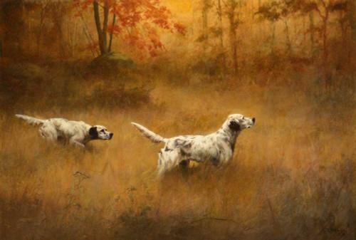 Giclee prints of Setters in a Field, 1916 by Percival Leonard Rosseau