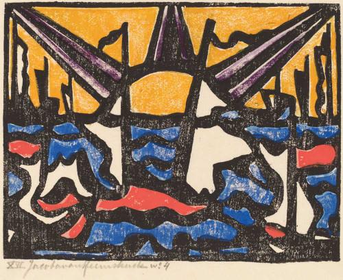 Giclee prints of Landscape with a Sun, 1915 by Jacoba van Heemskerck van Beest