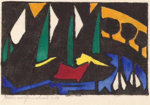 Giclee prints of Boat and Trees, 1914 by Jacoba van Heemskerck van Beest