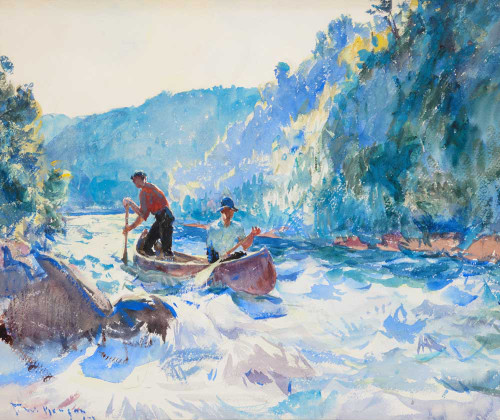 Giclee prints of Down the Rapids by Frank Weston Benson