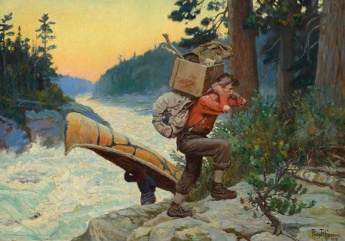 Giclee prints of Cruisers Making Portage by Philip Goodwin