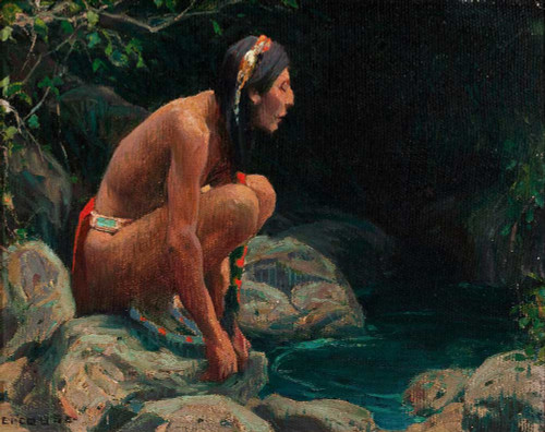 Giclee prints of The Spirit of the Pool by Eanger Irving Couse
