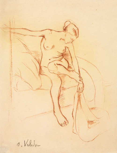 Giclee prints of Nude Woman Seated on a Bed by Suzanne Valadon