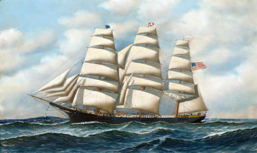 Giclee prints of Famous Clipper, Young American at Sea by Antonio Jacobsen