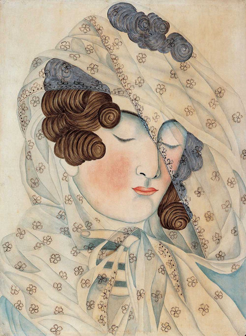 Giclee art prints of Woman with a Veil over Her Face by Emily Eastman