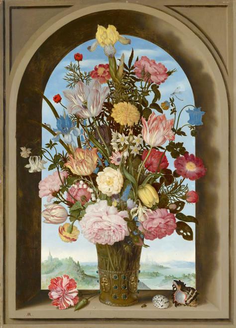 Giclee prints of Vase of Flowers in a Window by Ambrosius Bosschaert the Elder