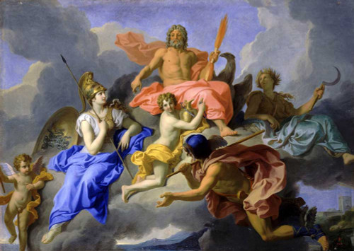Art prints of Minerva and the Triumph of Jupiter, 1706 by Rene-Antoine Houasse