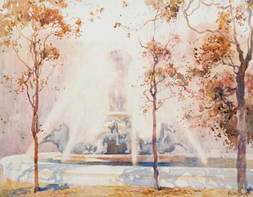Giclee prints of Bronze Horse Fountain by Penleigh Boyd