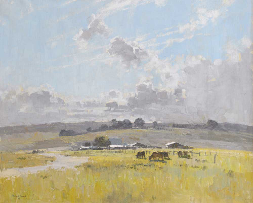 Giclee art prints of Landscape with Cattle and Farm Buildings by Penleigh Boyd