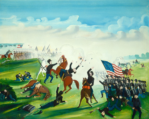 Art Prints of Civil War Battle by 19th Century American Artist