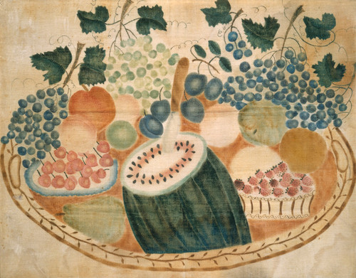 Art Prints of Fruit on a Tray by 19th Century American Artist