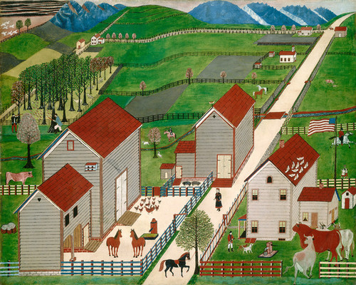 Art Prints of Mahantango Valley Farm by 19th Century American Artist