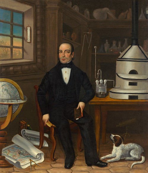 Art Prints of Man of Science by 19th Century American Artist