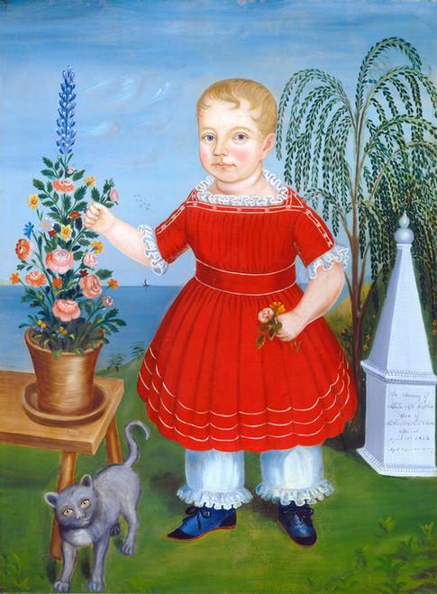 Art Prints of Memorial to Nicholas M.S. Catlin by 19th Century American Artist