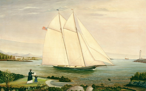 Art Prints of Schooner by 19th Century American Artist
