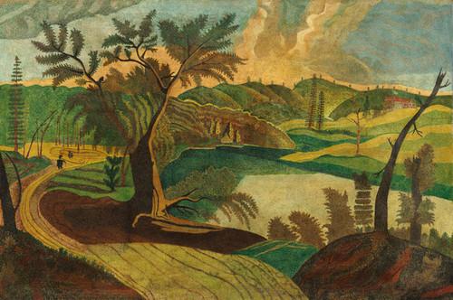 Art Prints of Stylized Landscape by 19th Century American Artist