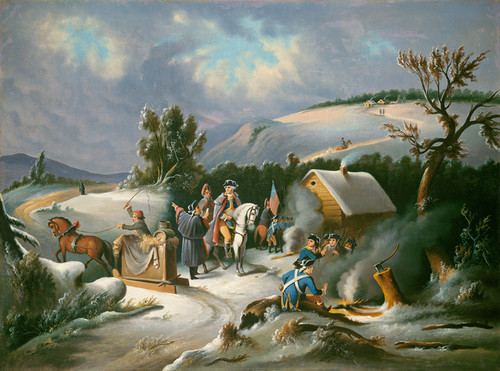 Art Prints of Washington at Valley Forge by 19th Century American Artist