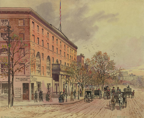 Art Prints of View of Washington Looking down Pennsylvania Ave. (23073L) by A. Meyer