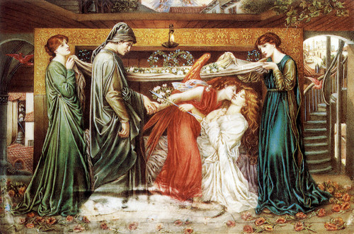 Art Prints of Dante's Dream at the Time of the Death of Beatrice by Dante Gabriel Rossetti